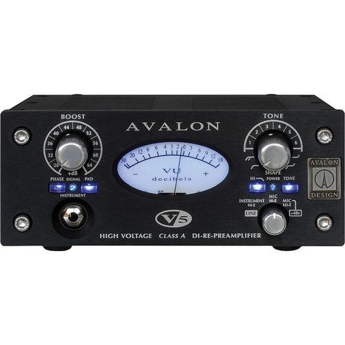 Avalon Design V5 Pure Class A Microphone Preamplifier (Black)