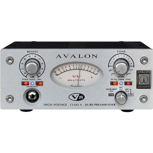 Avalon Design V5 Pure Class A Microphone Preamplifier (Silver)