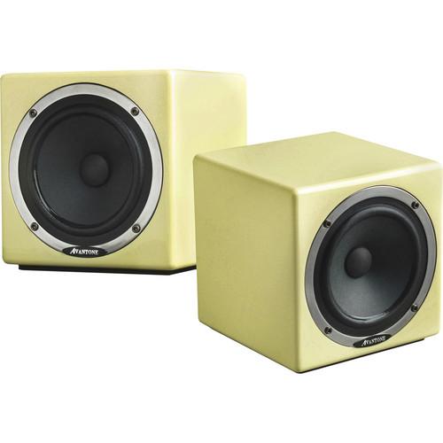 Avantone Pro Active MixCube Powered Full-Range Mini Reference Monitors (Pair, Retro-Cream)