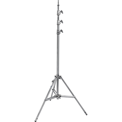 Avenger Baby Steel Stand 45 with Leveling Leg (Chrome-plated, 14.7')