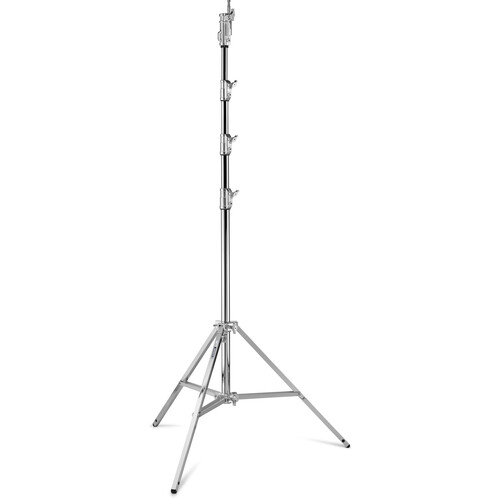 Avenger Combo Steel Stand 45 with Leveling Leg (Chrome-plated, 14.7')