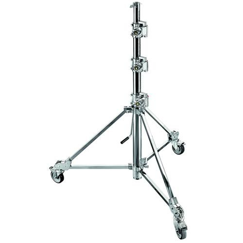 Avenger Strato Safe 47 Stand with Braked Wheels (Chrome-plated, 15.3')