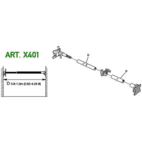 Avenger X401 Cross Pole 1300 Kit (2.62 - 4.26')