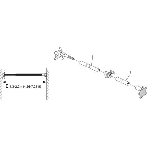 Avenger X402 Cross Pole 2220 Kit (4.26 - 7.21')
