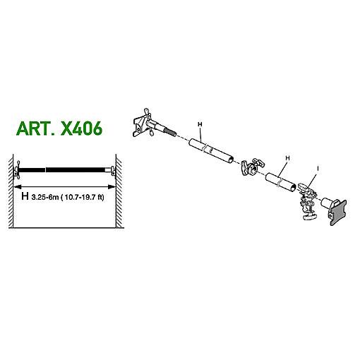 Avenger X406 Cross Pole 6000 Kit (10.7 - 19.7')