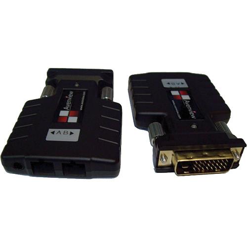 Avenview FO-DVI-DL-1000M Dual Link DVI Extender over 2 SC Fiber Optic Cable