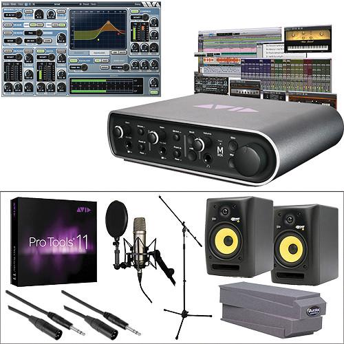 Avid Technologies Mbox Vocal Studio + Pro Tools 11 + Studio Monitors