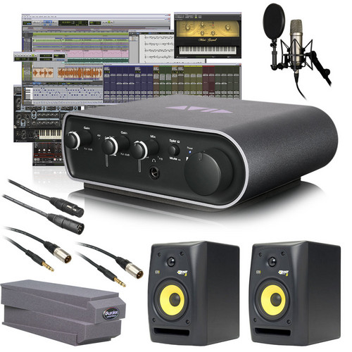 Avid Technologies Pro Tools 9 + Mbox Mini Vocal Studio Bundle (Speakers)