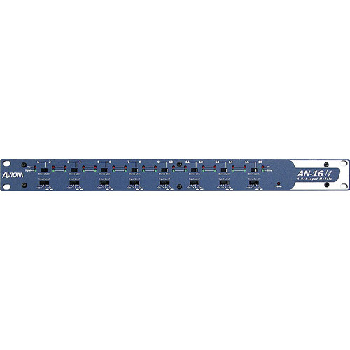 "Aviom AN16I - 16-Channel Input Module with 1/4"" TRS Jacks"