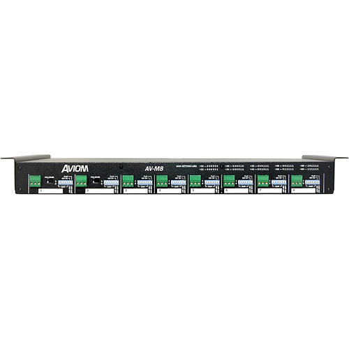 Aviom AV-M8 Eight-Channel Mic Input Module for Pro16 A-Net