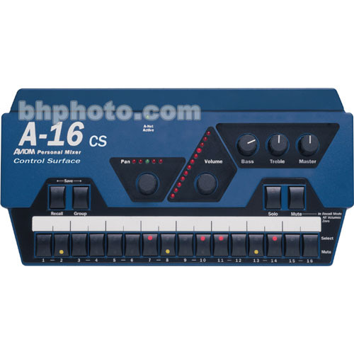 Aviom A-16CS Remote Control Surface for A-16R Personal Mixer