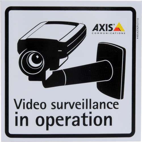 Axis Communications Surveillance Sticker (10-Pack)