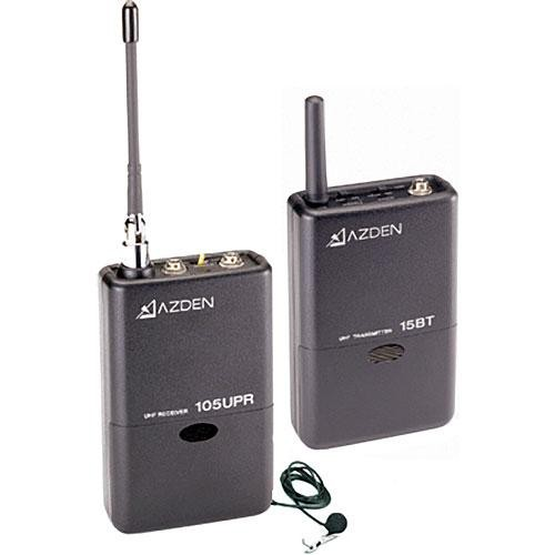 Azden 105LT 105 Series UHF Wireless Microphone System with 15BT Transmitter