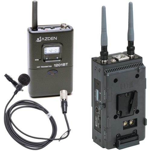 Azden 1201 Series - Slot-In Portable Wireless Lavalier Microphone System