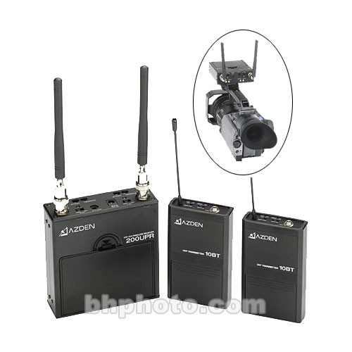 azden dual channel wireless microphone system 200ult b h photo. Black Bedroom Furniture Sets. Home Design Ideas