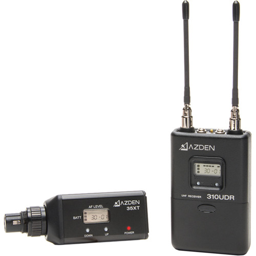 Azden 310XT Camera-Mount Wireless Plug-On Microphone System with No Mic (566.125 to 589.875 MHz)