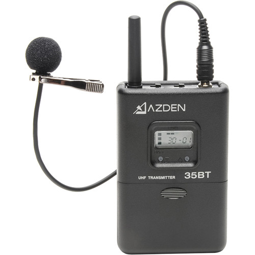 Azden 35BT Portable Wireless Bodypack Transmitter with EX503 Mic