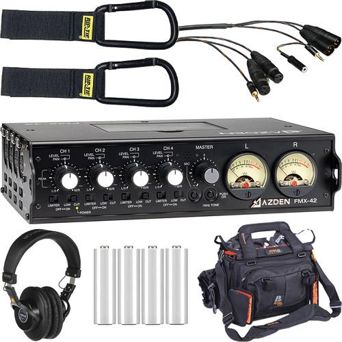 Azden FMX-42 4-Channel Deluxe Mixer Kit