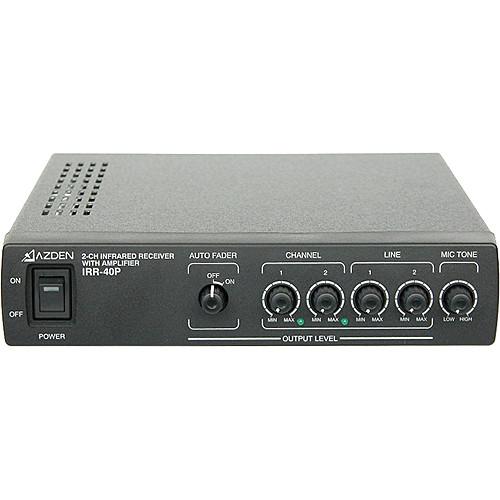 Azden IRR-40P 2-Channel Infrared Receiver with Amplifier