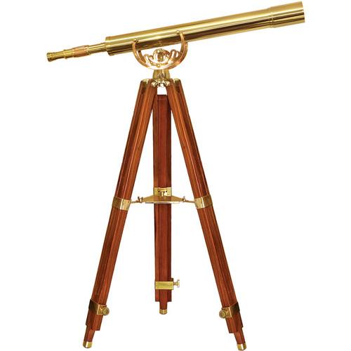 Barska 32x80 f/7.5 Anchormaster Classic Brass Telescope with Mahogany Tripod