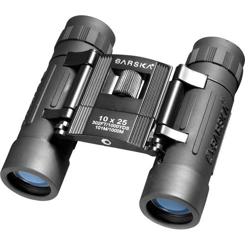 Barska 10x25 Lucid View Binoculars (Black, Clamshell Packaging)