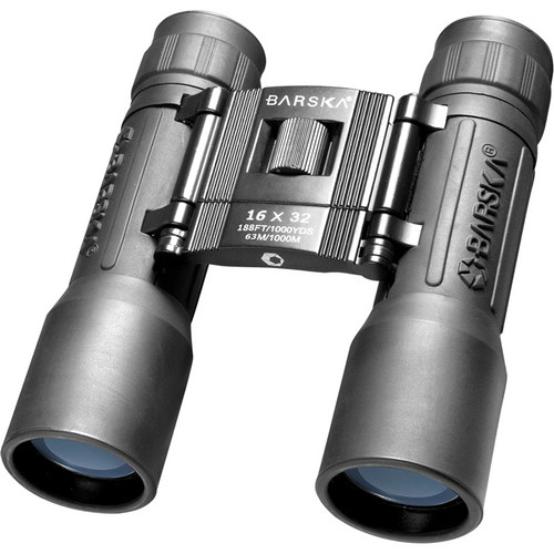 Barska 16x32 Lucid View Binocular (Black, Clamshell Packaging)