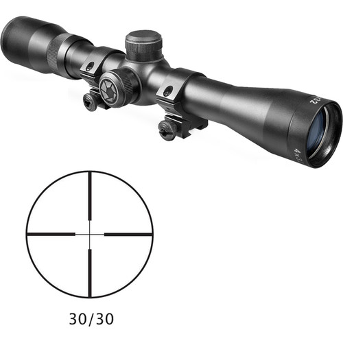 Barska 4x32 Plinker-22 Riflescope (30/30 Reticle, Black Matte)