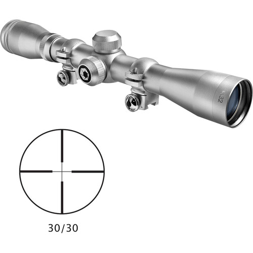 Barska 4x32 Plinker-22 Riflescope (30/30 Reticle, Silver)