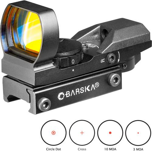 Barska 1x22 Multi-Reticle Electro Sight Riflescope (Black Matte)