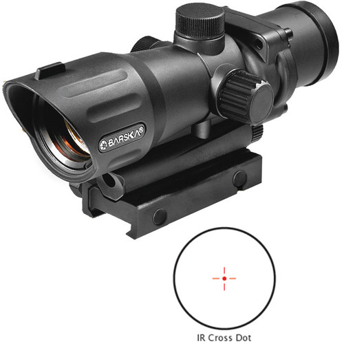 Barska 1x30 M-16 Electro Sight Riflescope (Black Matte)
