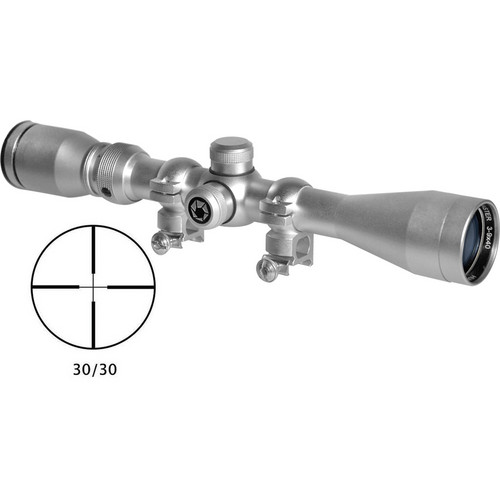 Barska 3-9x40 Huntmaster Riflescope (30/30 Reticle, Silver)