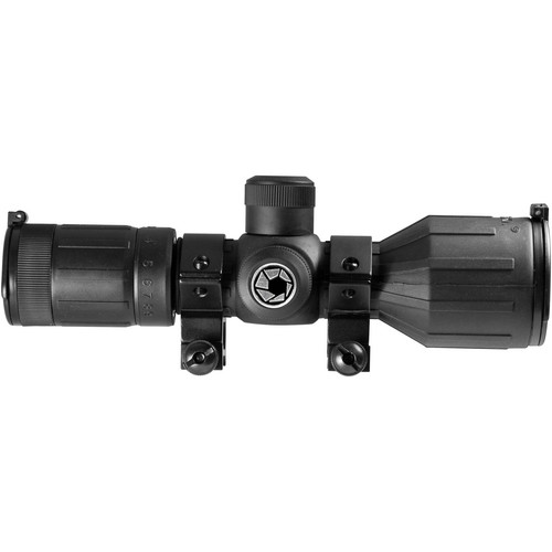 Barska 3-9x40 IR Rubber Armored Contour Riflescope (4A Mil-Plex Illuminated Reticle, Matte Black)