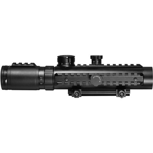 Barska 1-3x30 IR Multi-Rail Electro Sight (Illuminated Red IR Cross Reticle, Matte Black)