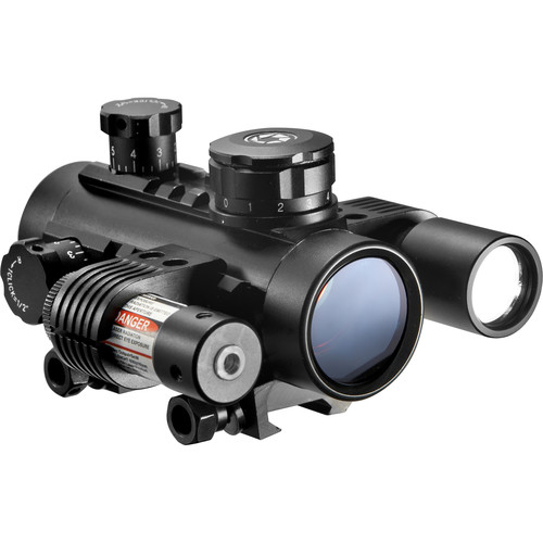 Barska 1x30 Electro Red Dot Sight with Flashlight & Laser