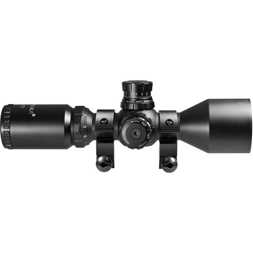 Barska 3-9x42 Contour Riflescope (Red-Green Mil-Dot Illuminated Reticle, Matte Black)