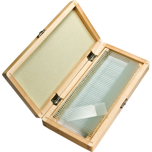 Barska AF11564 50 Prepared Microscope Slides with Wooden Case