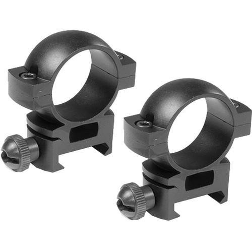 "Barska Weaver-Style Rings with Peep (1"", Aluminum, Low, Matte Black)"