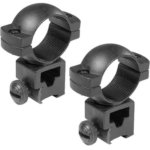 """Barska 1"""" High Dovetail Style, Airgun .22 Riflescope Rings  (Matte)"""
