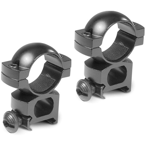 "Barska Weaver-Style Rings with Peep (1"", Aluminum, High, Matte Black)"