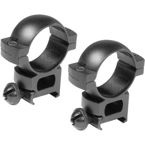 Barska Weaver-Style Rings with Peep (30mm, Aluminum, X-High, Matte Black)