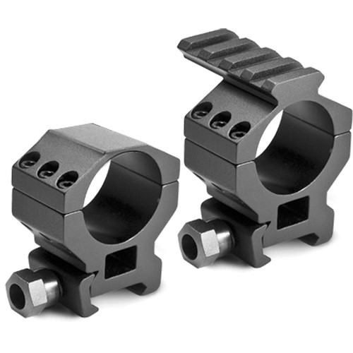 "Barska 30mm Standard Tactical Style Riflescope Rings With 1"" insert, built in Picatinny rail, and Picatinny base (Matte)"