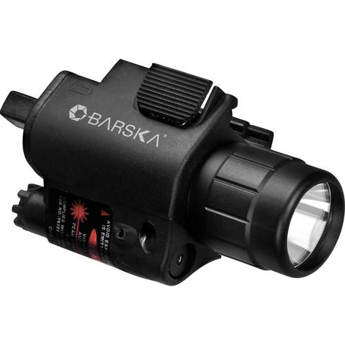 Barska Red Aiming Laser with 160 Lumen Flashlight
