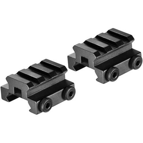 Barska AW11762 Picatinny-Style Mounts with Rail (2-Pack, Matte Black)