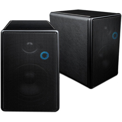Barska Blue Aura HD Channel Wireless Speakers with Transmitter (Black)