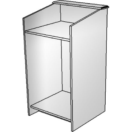 "BEI Audio Visual Products Multimedia Lectern - Basic 25"" (without Options)"