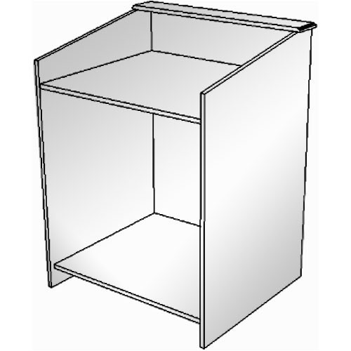 """BEI Audio Visual Products Multimedia Lectern - Basic 35"""" (without Options)"""