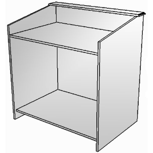 """BEI Audio Visual Products Multimedia Lectern - Basic 45""""  (without Options)"""