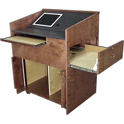 BEI Audio Visual Products Locking Pocket Doors for the Multi-Media Lectern