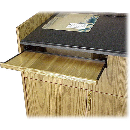 BEI Audio Visual Products Sliding Keyboard Drawer for the Multi-Media Lectern