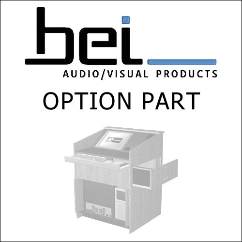BEI Audio Visual Products Rack Mounted 2U Storage Drawer for the Multi-Media Lectern
